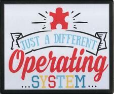 AUTISM AWARE DIFFERENT OPERATING SYSTEM INSERT MOUSEMAT RUBBER BACKED