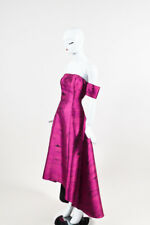 "Sachin + Babi Noir $850 Black & Pink Off the Shoulder ""Loren"" Gown SZ 4"