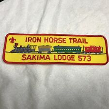 IRON HORSE TRAIL OA Lodge # 573 SAKIMA LODGE LaSalle Council JACKET BACK PATCH