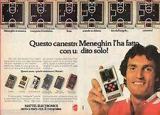 Pubblicità Advertising MATTEL ELECTRONICS 1979 Basketball (Meneghin)