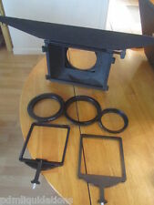CHROZIEL No. 411-51 MATTE BOX Sunshade 4:3 Adapter Rings & French Flag