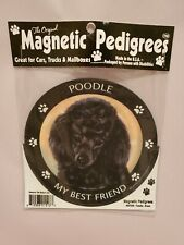 Pet Gifts USA Magnetic Pedigrees Dog Magnet - Poodle My Best Friend
