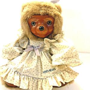 Raikes Bears Chelsea #5451 Wood Face feet 0762/7500 signature dress 1985