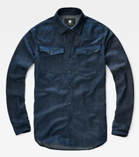 G-Star Raw Imperial Blue Mens Buttoned Shirt Snr UK XS *ref58