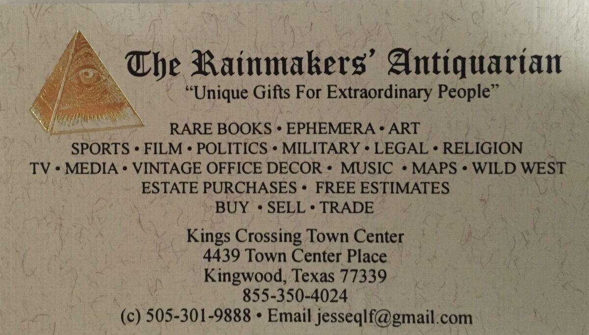 The Rainmakers' Antiquarian