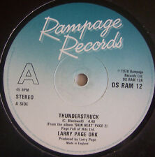 "LARRY PAGE ORK Thunderstruck / Slinky Thighs 12"" Single"