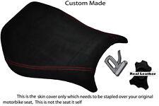Black Suede Rojo Stitch personalizado se adapta a Ducati Monoposto 748 916 996 998 cubierta de asiento