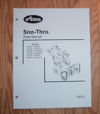 ARIENS 921003 - ST1130DLE, 921004 - ST924DLE SNO - THRO PARTS MANUAL
