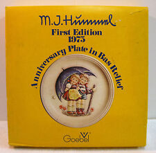"M.J. Hummel 1975 First Edition Anniversary Plate ""Stormy Weather"" - West Germany"