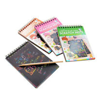 Scratch Art Painting Book Set Colorful Educational Toys Sent In Random Color*