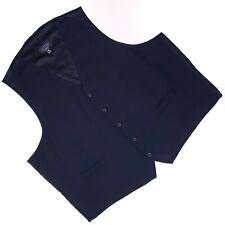 6XL Waistcoat Vest Pronto Uomo Platinum Mens Size Navy Blue Wedding Prom Formal