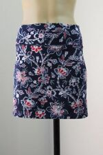Cotton Blend Floral Mini Skirts for Women