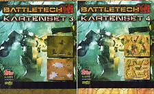 BUNDLE-2 x BATTLETECH KARTENSET-#3 & #4-Tabletop Gaming Map´s-Miniatures-neu-OVP