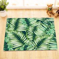 Tropical Plants Bath Mat Rug Palm Leaves Non-Slip Home Decor Bathroom Carpet