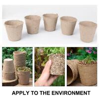 50x Nursery Pots Biodegradable Paper Pulp Peat Pot Plant Nursery Cup Tray 8*8cm