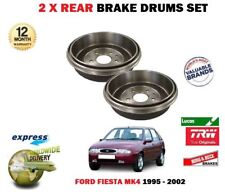 FOR FORD FIESTA MK4 1.25 1.3 1.4 1.6 16V SPORT 1995-2002 2X REAR BRAKE DRUM SET