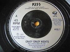 """KISS - CRAZY CRAZY NIGHTS  7"""" VINYL"""
