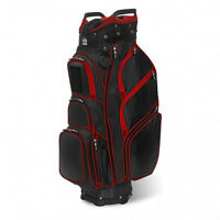 New JCR TL650 Golf Cart Bag Black Red Patented Technology Incredible Features