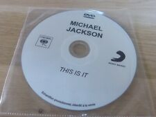 MICHAEL JACKSON - THIS IS IT - FRENCH PROMO DVD !!! ULTRA RARE !!!!!!!!!!