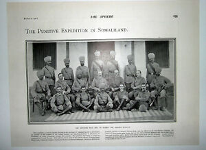 1901 EXPEDITION IN SOMALILAND ~ British Officers & 16th Bombay Infantry Officers