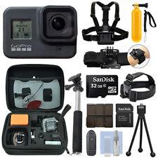 GoPro Hero 8 Negro 12 Mega píxeles cámara Videocámara 4K Impermeable + Paquete de acción 32GB