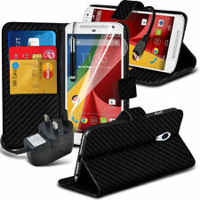 Carbon Fiber Mobile Phone Wallet Cases for Motorola Moto G