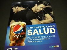 PRINCE ROYCE Salud from PEPSI COLA 2014 PROMO POSTER AD mint condition