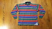 Tommy Hilfiger Athletic Gear Colorblock multi-color polo shirt XL LS VTG 90s