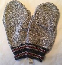 EDDIE BAUER Men's L/XL Gray Knit Flip Top Mittens Fingerless Gloves NWT