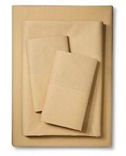 IKEA Sheets Full size 4 piece Sheet set Martorp Tan Beige 400TC Full ( Double )