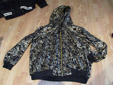 Raw Blue hooded jacket dollar bills gold 3X XXXL hoodie