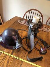 Vintage PA. Miner MSA Skullgard K Hard Hat with Edison  Model S  Light Lamp
