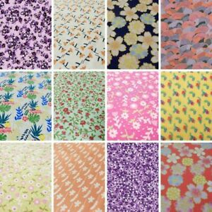 Flower Print Cotton Fabric - Small Flowers Floral Quilting Fabrics  FAT QUARTERS