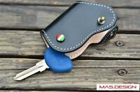 Vespa Piaggio Leather Key cover for GTS, BV, ET4-LX150-GT GT15 RDT5 in Black