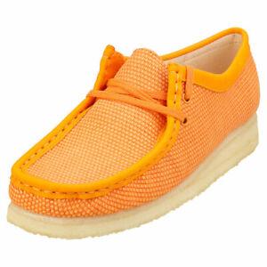 Clarks Originals Wallabee Womens Orange Wallabee Shoes - 6 UK