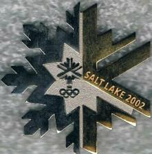 Rare Numbered 2002 Salt Lake City Silver and Brass Snowflake GM Collector Pin #2