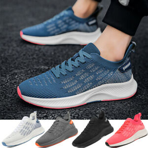 Men's Breathable Running Shoes Comfortable Gym Walking Athletic Jogging Sneakers