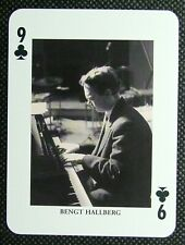 1 x playing card single swap Jazz legend Bengt Hallberg 9 of Clubs