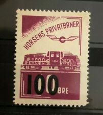 Stamps Denmark danmark Horsens Privatbaner overprint train