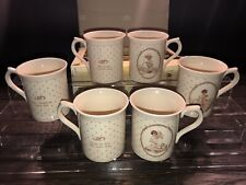 6 Rare Vintage 1988 Enesco Coffee Tea Mugs Cups Mabel Lucie Attwell Collection