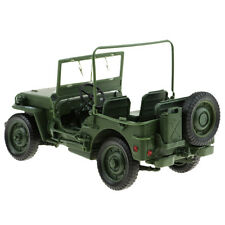 fe4f93f72 1 18 Scale Car Model Diecast Military Tactical Willys Jeep Classic Cars