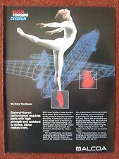 10/1982 PUB ALCOA FORGING ALUMINIUM STEEL ALLOY GYMNASTIQUE GYMNASTE ORIGINAL AD