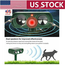 US Animal Repeller Ultrasonic Cat Dog Outdoor Solar Ultrasonic IPX4  Solar Power