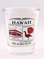 HAWAII STATE SCENERY RED NEW SHOT GLASS SHOTGLASS