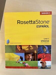 Rosetta Stone Spanish Latin America Level 1 Version 3 Espanol Win+Mac