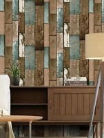 2-Brown Wood Grain Wallpaper Sticker Wall Accent Home Decor Contact Paper Sale