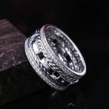 Fashion Jewelry White Sapphire Rings 925 Silver Party Rings For Women Size 8