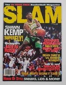 Oct. 1994 Slam NBA Pro Basketball Magazine #2 Shawn Kemp Cover