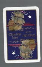 Swap Playing Cards  1  VINT  WHITE  STAR  LINE  ADVT  S38  SHIPPING   MINT  GOLD