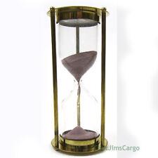 """Marine Arts"" Brass Nautical Hourglass 6.38"" Sandglass 5 Minute Sand Timer New"